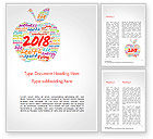 Holiday/Special Occasion: 2018 Apple Word Cloud Collage Word Template #14925