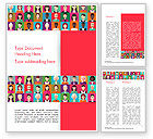 People: People Icons Word Template #14927