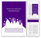 Holiday/Special Occasion: Christmas Holiday Background Word Template #14928