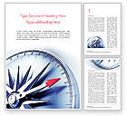 Business Concepts: Metal Compass with Red Arrow Word Template #14931