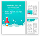 Business Concepts: Pencil Rocket Takeoff Word Template #14933
