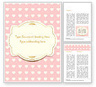 Holiday/Special Occasion: Label Frame on Hearts Background Word Template #14934