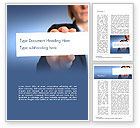 Business: Business Woman Hand Holding Blank Paper Word Template #14935