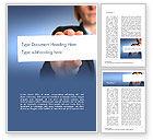 Business: Geschäftsfrauhand die leeres papier hält Word Vorlage #14935