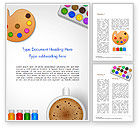 Art & Entertainment: Schilderij Accessoires Illustratie Word Template #14949