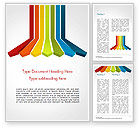 Abstract/Textures: Isometric Colorful Arrows Word Template #14953