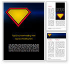 Abstract/Textures: Superman Sign Frame Word Template #14958