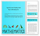 Education & Training: Mathematical Doodles Word Template #14968
