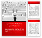 Business Concepts: Businessman Staring at Infinite Maze Word Template #14978