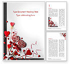 Holiday/Special Occasion: Heart Shaped Lollipops Word Template #14981