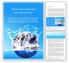 Nature & Environment: Aarde In Waterplons Word Template #14982