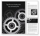 Abstract/Textures: Metal Realistic Cogwheels Word Template #14984