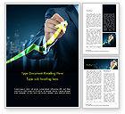 Business Concepts: 워드 템플릿 - 사업가 성장 그래프 그리기 #14998