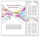 Abstract/Textures: Plantilla de Word - triángulos de colores pastel #15011