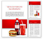 Food & Beverage: Fast Food Menu Word Template #15018