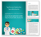 Medical: Doctor with Medicines Word Template #15021