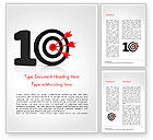 Business Concepts: 10 Met Dartbord Word Template #15025