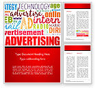 Careers/Industry: Advertising Word Cloud Collage Word Template #15030