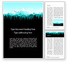 Nature & Environment: Mountain Forest Word Template #15031