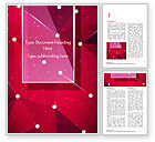 Abstract/Textures: Connected Dots on Red Background Word Template #15036