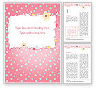 Holiday/Special Occasion: Pink Greeting Card Word Template #15067