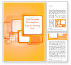 Abstract/Textures: White Squares with Orange Frame Word Template #15070