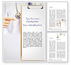 Medical: Arts Met Klembord Word Template #15077