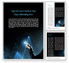 Business Concepts: Digital Graph Word Template #15079