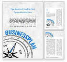 Business Concepts: Business Plan Compass Concept Word Template #15082