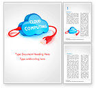 Technology, Science & Computers: Cloud Computing Concept Word Template #15087