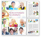 People: Multiethnic Diverse Cheerful People Word Template #15094