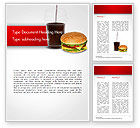 Food & Beverage: Fast Food Illustration Word Template #15095