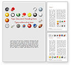 Sports: Sports Equipment Icons Word Template #15100