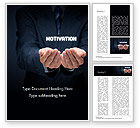 Business Concepts: Glowing Word Motivation Word Template #15105