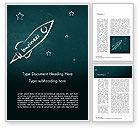 3D: Business Rocket Word Template #15114