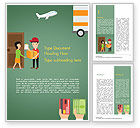 Careers/Industry: Delivery Service Illustration Word Template #15123