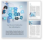 Business Concepts: Modèle Word de puzzle homme d'affaires bleu #15125