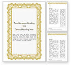 Abstract/Textures: Certificaat Met Kronkelig Patroon Word Template #15131