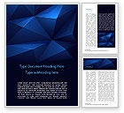 Abstract/Textures: Blue Abstract Geometric Triangles Word Template #15133