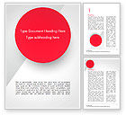 Abstract/Textures: Red Circle Word Template #15136