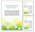 Nature & Environment: Daffodils Word Template #15138