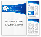 Business Concepts: Piece of White Puzzle Word Template #15139