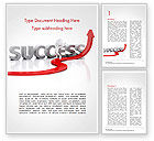 Business Concepts: Concept of success and 3D Man Word Template #15147