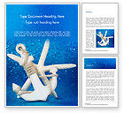 Holiday/Special Occasion: Anchor and Starfish Word Template #15155