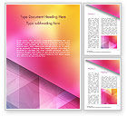 Abstract/Textures: Color Gradient and Triangles Word Template #15160