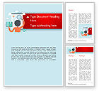 Education & Training: Information Search Illustration Word Template #15161