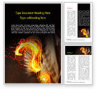 Business Concepts: Flaming Question Mark Word Template #15188
