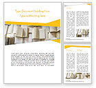 Education & Training: Open Books Piled up Word Template #15209