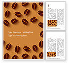 Food & Beverage: Modello Word - Illustrazione di chicchi di caffè #15218