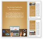 Business Concepts: Online Shopping Illustration Word Template #15227